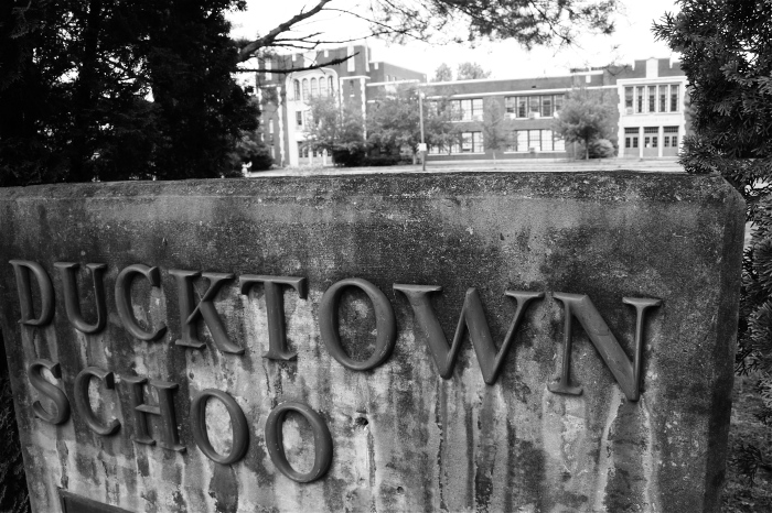 Ducktown School Sign
