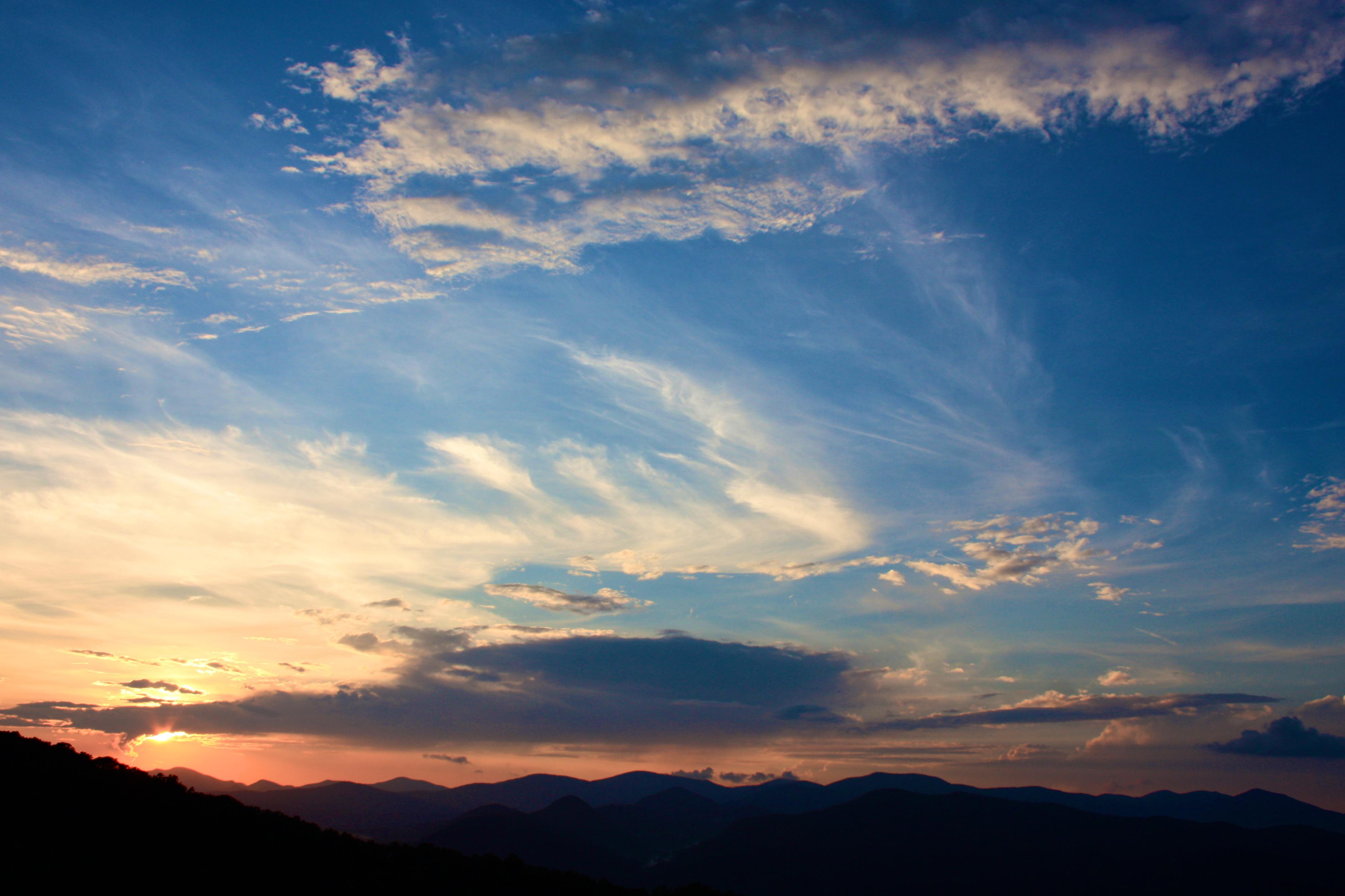 Blue Ridge Overlook Sunset