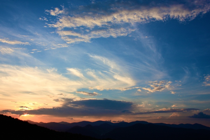 Blue Ridge Overlook Sunset