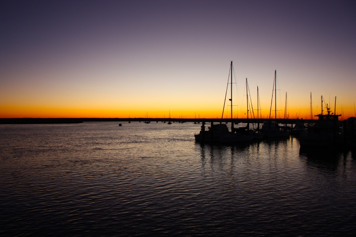 Shrimp Boats at Dusk